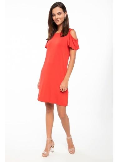 DeFacto Omuz Dekolteli Elbise Kırmızı